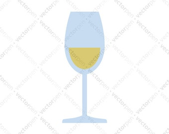 White Wine Glass SVG. Scrapbooking and Cricut Clip Art. Digital Download