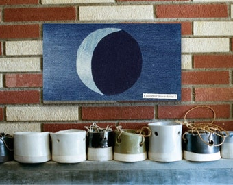 Moon Artwork, Wall Hanging, Canvas