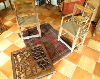 Pair of old Chinese armchairs