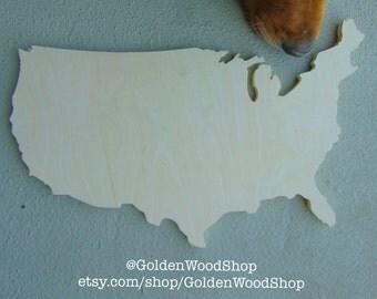 U.S.A Wood Cutout