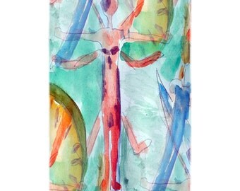 Abstract Virtuvian Man Beach Towel