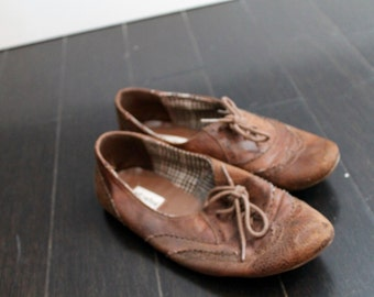 brown oxford flats - 7