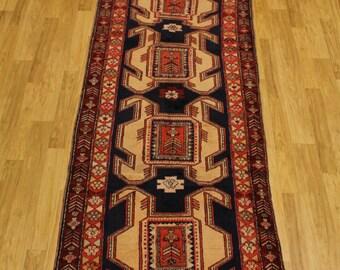Sale Thick Pile Hallway Blue Meshkin Runner Persian Oriental Area Rug Carpet 4X10 Sale