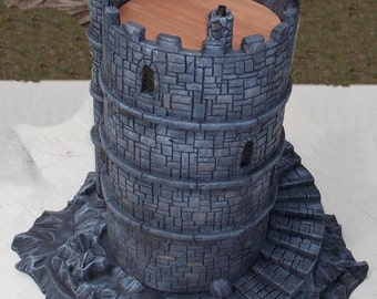 Custom built Castle Keep for 28mm war game play or display