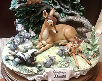 Limited Edition Bambi Porcelain Figurine by Laurenz Capodimonte/Enzo Arzenton