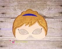 Ready to ship! Felt mask - Anna inspired mask  Frozen favor - Frozen mask - Anna costume - Queen Elsa gift - Frozen birthday