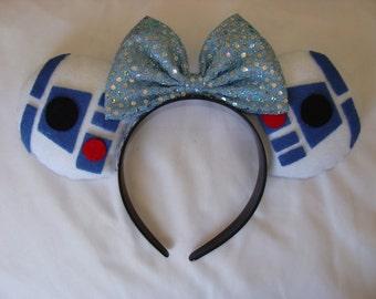 R2D2 Inspired Disney Ears