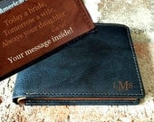 Father-of-the-bride gift • brides gift to dad • Father-of-the-groom gift • wedding for dad • personalized wallet  men's wallet Indigo 7751••