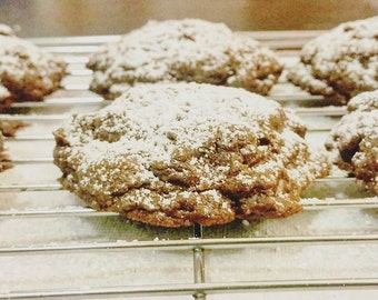 Cakey Chocolate Chip Cookies with cocoa powder