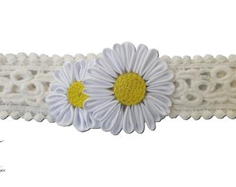 Child lace and Daisy headband