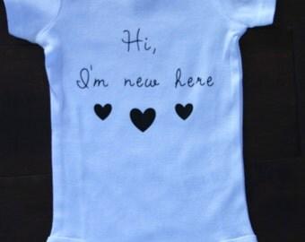 Baby Onesie, Newborn- Hi, Im new here