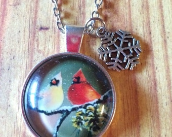 Winter Birds Pendant