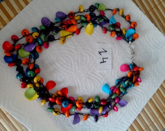 multicolored necklace knit