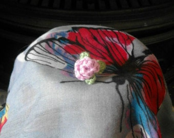 Romantic Rose Crochet Ring