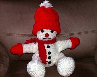 Hand Crocheted Snowman
