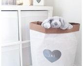 Personalised toy storage sack nursery storage heart organisation kids room