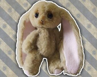 Plush handcrafted | Teddy-Rabbit | Snowman | Gift idea