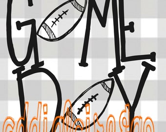 Game Day Hand Drawn File (svg, dxf, png)