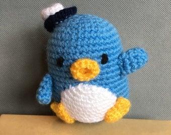 Crochet Hello Kitty doll - Tuxedo Sam the Penguin
