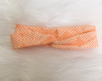 Apricot Oasis Knit Turban Headband