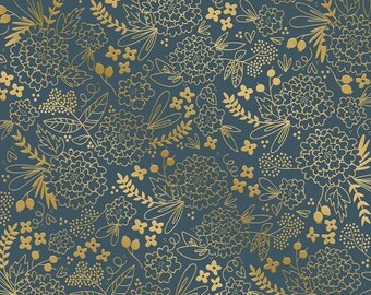 Sheet paper Scrapbooking flower geometric Carpe Diem 30.5 x 30.5 cm - paper printed - paper - paper black - gold - bloom 216 g/m