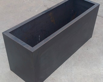 Steel Planters with Patina and Clear Coat