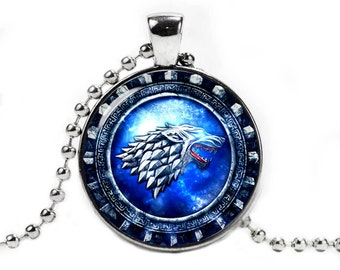 House Stark Necklace Pendant Game Of Thrones Fandom Jewelry Geeky Jewelry