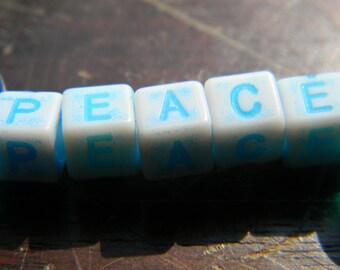 Blue peace letters
