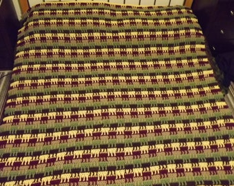 Autumn Colour Ladder Afghan