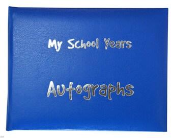 School Autograph Book - Royal Blue