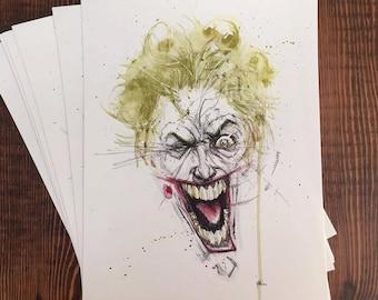 Watercolor Joker