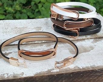 Double Wrap Buckle Bracelet