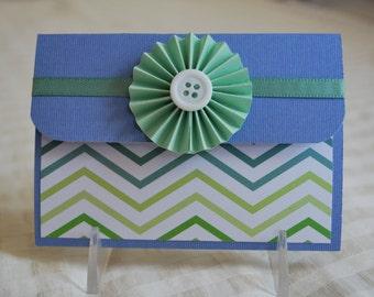 Pop-Up Gift Card Holder - Rosette Chevron