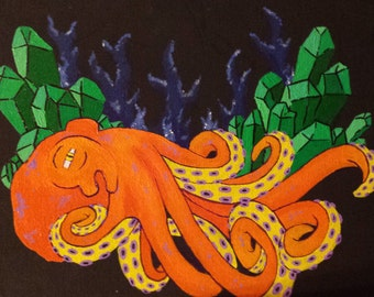 Crystal Octopus painting 8x10