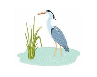 Blue Heron - Machine Embroidery Design
