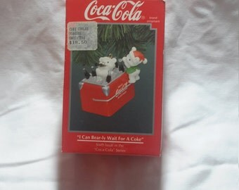 Coca-Cola Ornament I can bear-ly wait for a coke