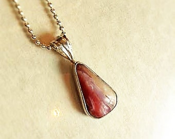 Common Pink Opal, Sterling Silver  Pendant