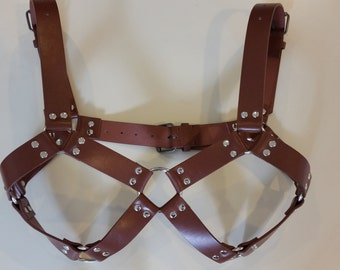 Leather Steam Punk Strap-on and Bra set