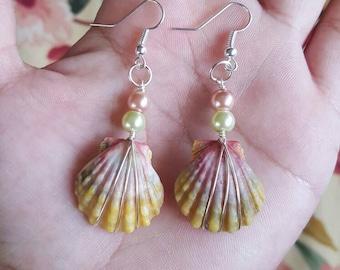 Kauai sunrise shell earrings