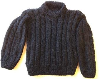 Blue vest Navy 24 months. Hypoallergenic wool.
