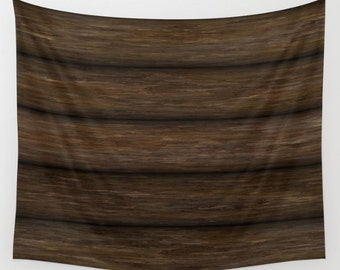 Log Cabin Tapestry, Rustic Tapestry, Log Cabin Walls, Log Walls, Log Cabin, Cabin Walls, Wood Cabin, Wooden Cabin Walls, Wooden Walls, Brown