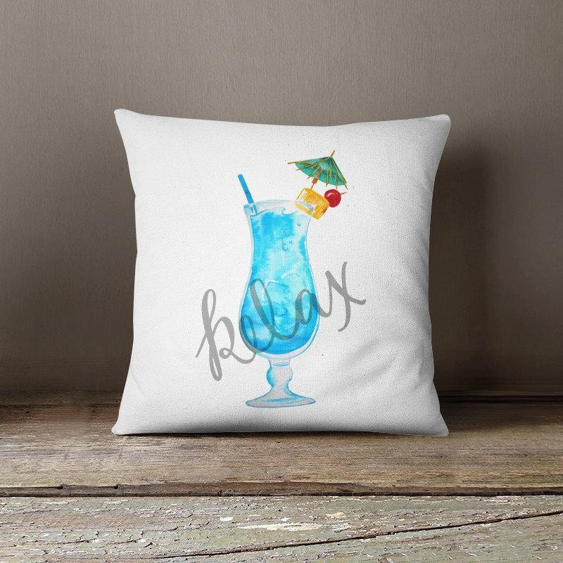 Tropical Throw Pillows For Couch : Tropical Throw pillow island accent pillow tropical sofa