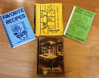 Four 1970s  Community Cookbooks from Michigan