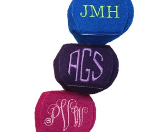 Monogrammed, Soft, Felt Over-the-Lens Reusable, Handmade Eye Patch for Amblyopia or Lazy Eye.  Choose color, monogram style and thread.
