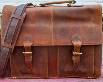 Vintage Leather Postman's Messager  Bag