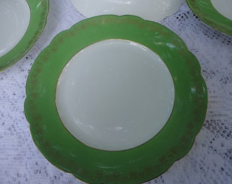 1870 Gillmore 5 th Ave Fine Porcelain Dinner Plates Set Of 5