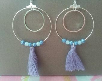 Blue violet Creoles
