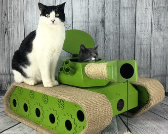 The Ludipuss interactive CatTank! Scratching post! Cat bed! Moving laser! Ping pong balls and mice! What more could your cat want?