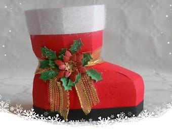 Stockings, Christmas, Santa Claus, Santa, decoration, gifts, gift packaging, paper