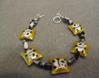 HANDMADE PANDA BEADED Bracelet